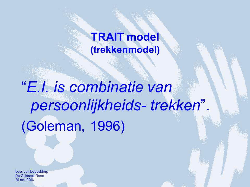 TRAIT model (trekkenmodel)
