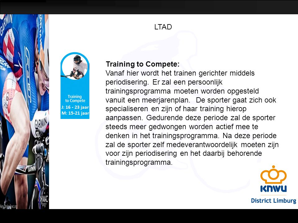 LTAD Training to Compete: