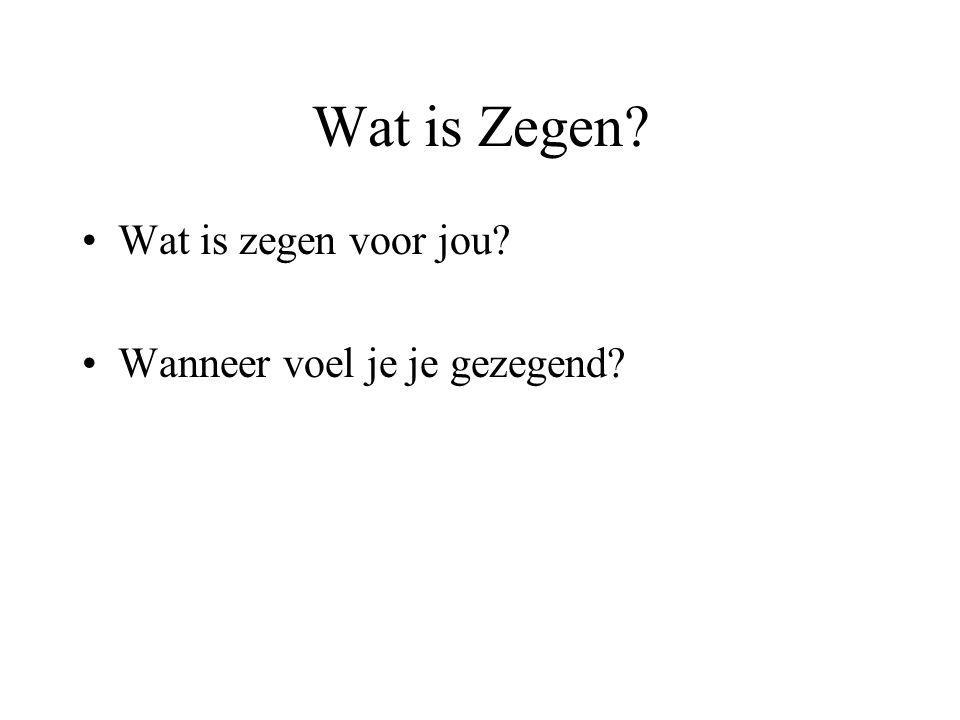 wat is zegenen