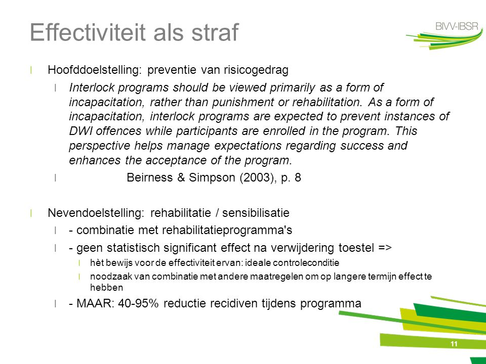 Effectiviteit als straf