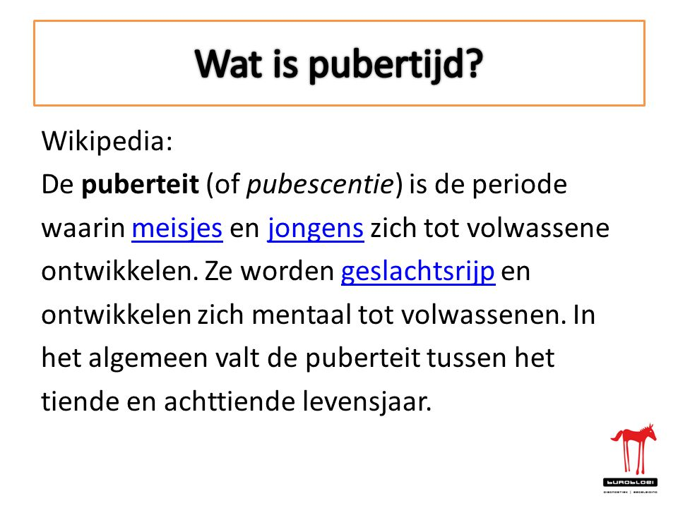 Wat is pubertijd Wikipedia: