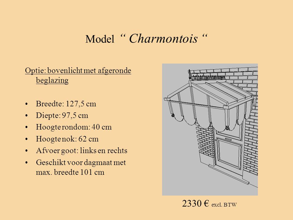 Model Charmontois 2330 € excl. BTW