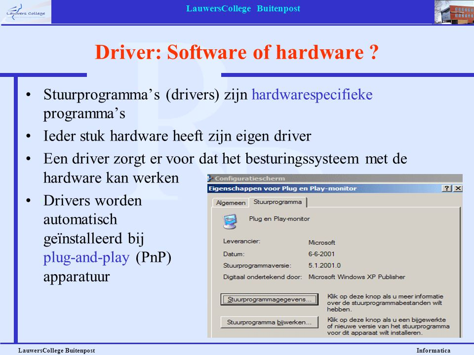Driver: Software of hardware