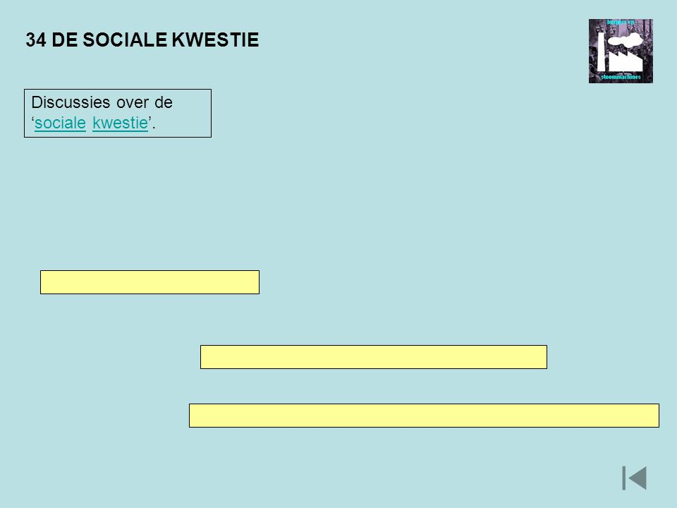 34 DE SOCIALE KWESTIE Discussies over de 'sociale kwestie'.