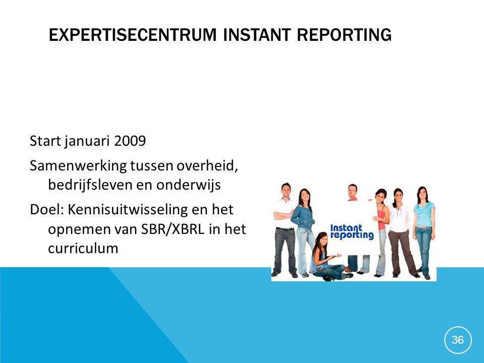 Expertisecentrum Instant Reporting