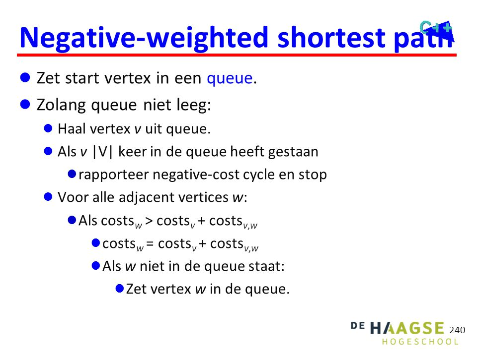 Negative-weighted shortest path