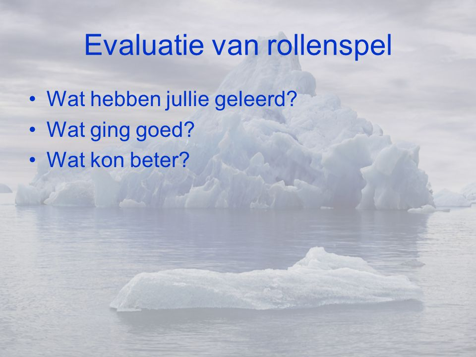 Evaluatie van rollenspel