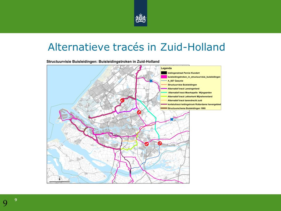Alternatieve tracés in Zuid-Holland