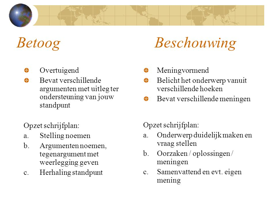 Schrijfplan Globalisering - ppt video online download