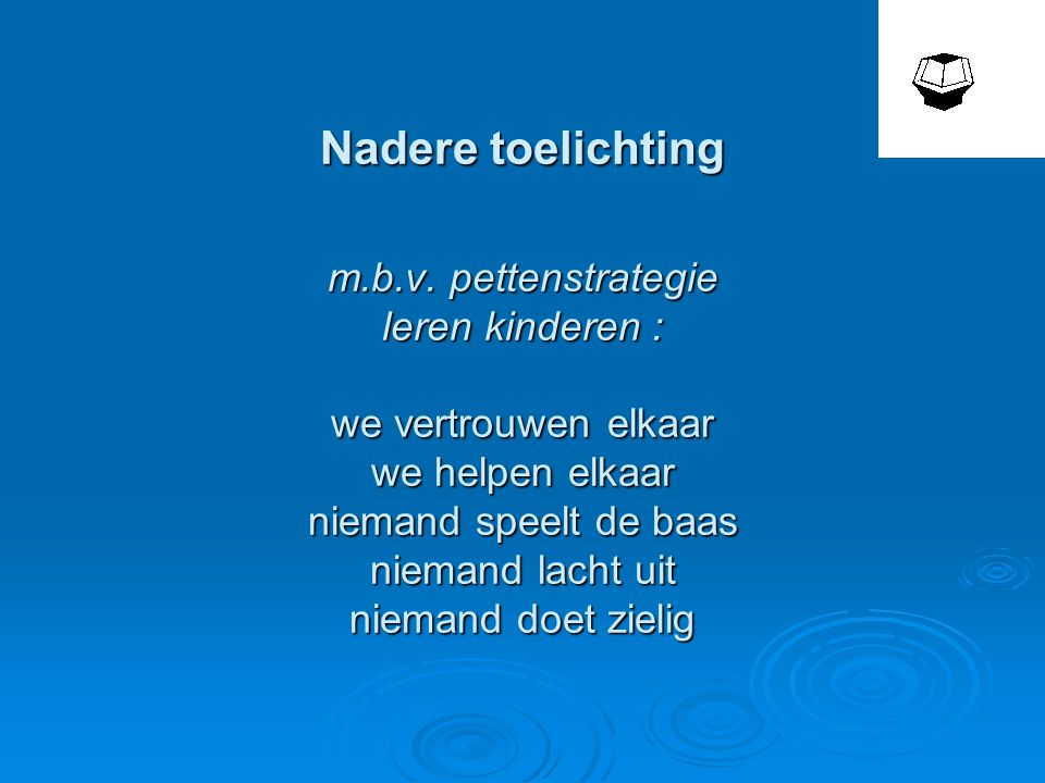 Nadere toelichting m. b. v