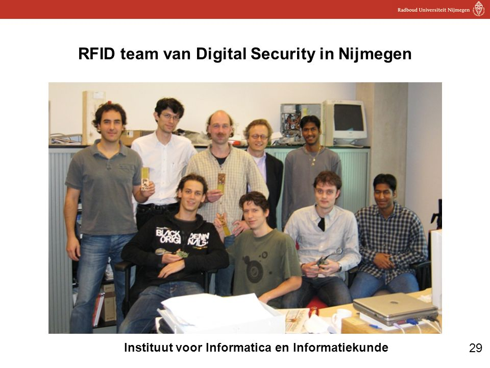 RFID team van Digital Security in Nijmegen