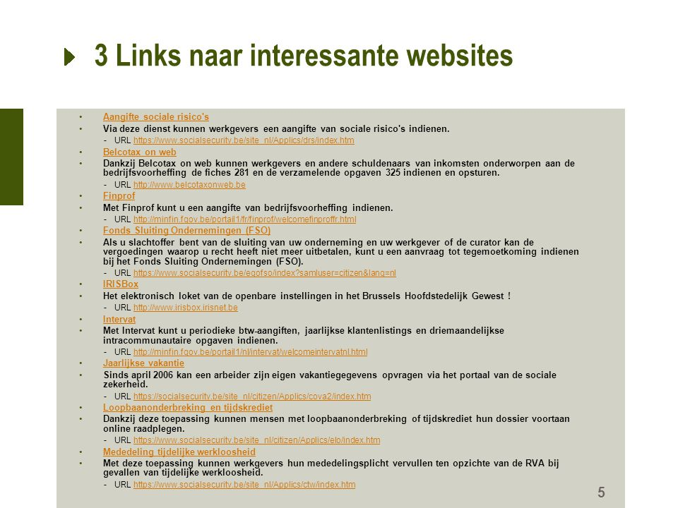 3 Links naar interessante websites