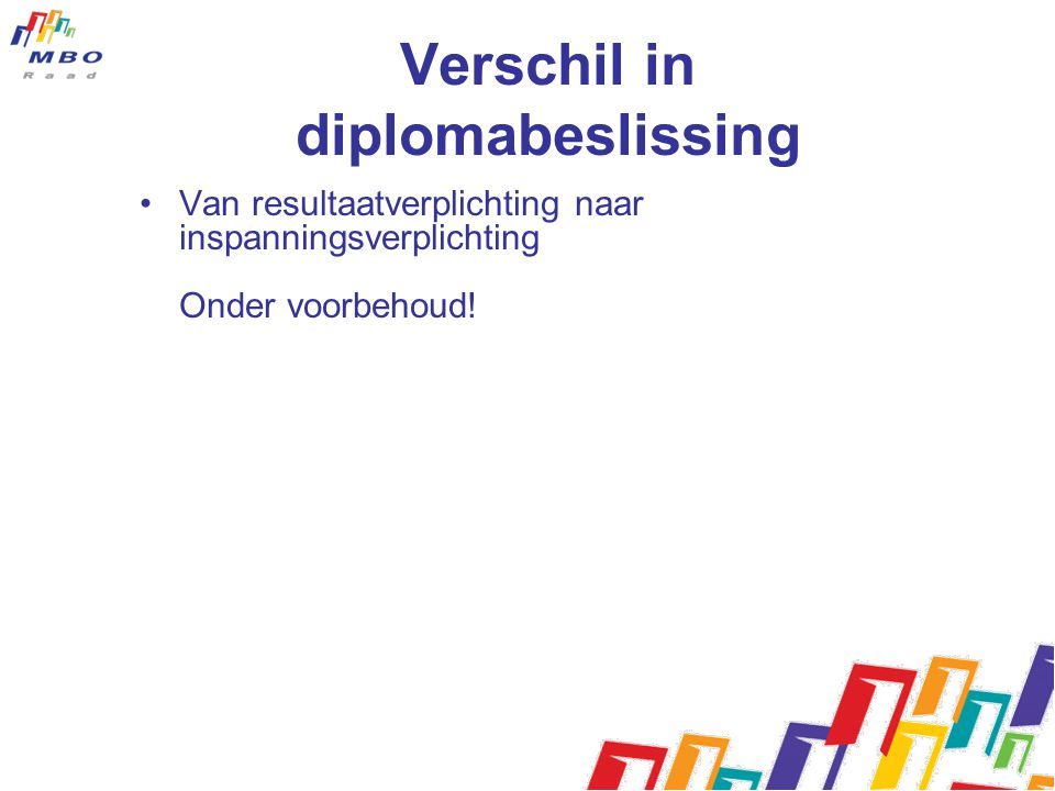 Verschil in diplomabeslissing