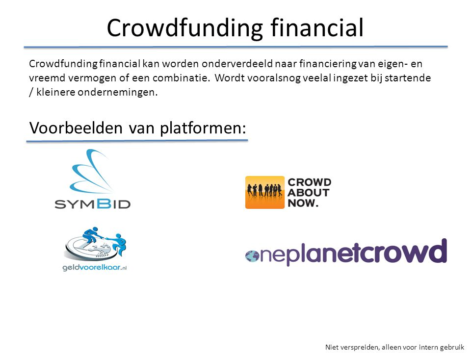 Crowdfunding financial