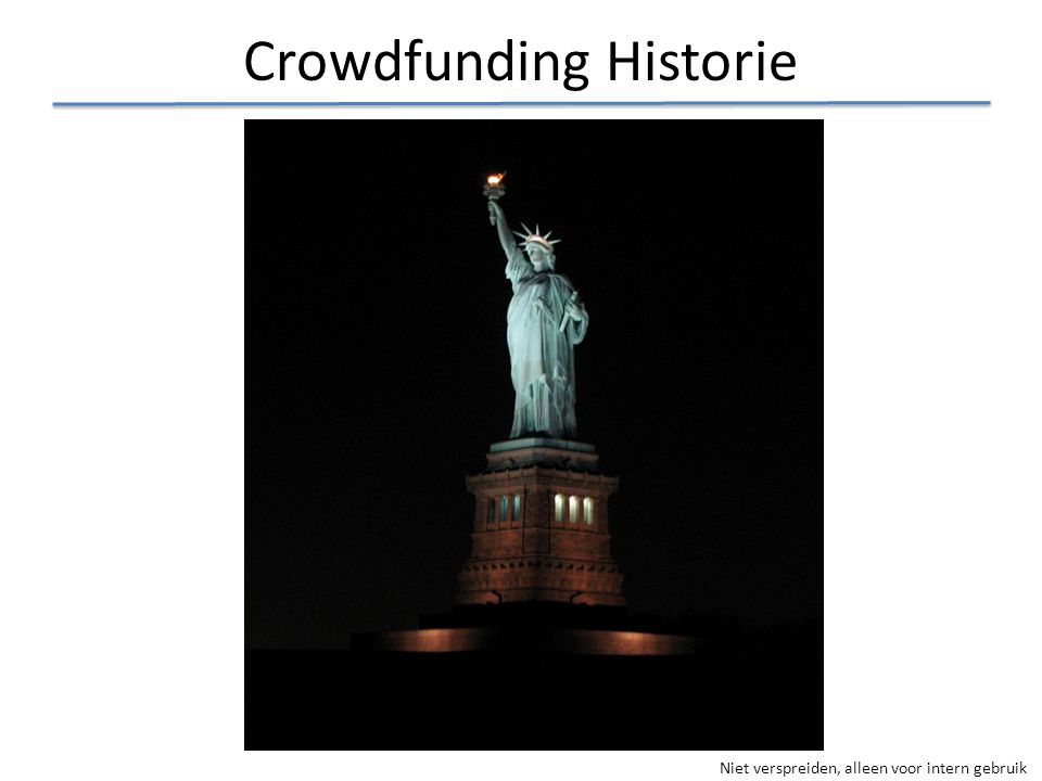 Crowdfunding Historie