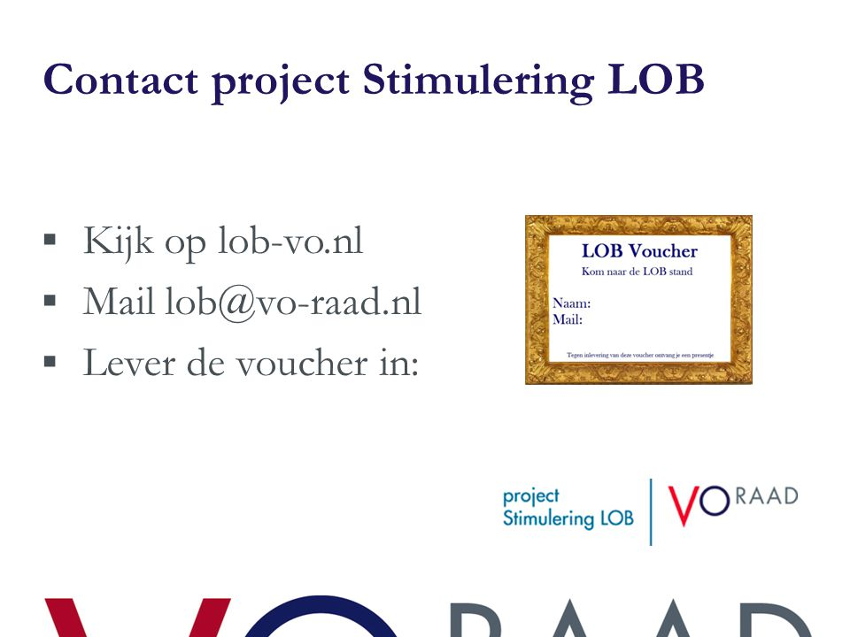 Contact project Stimulering LOB