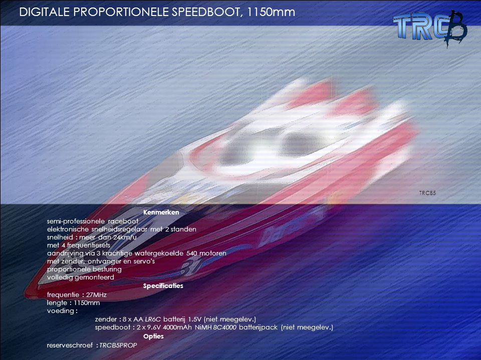 DIGITALE PROPORTIONELE SPEEDBOOT, 1150mm