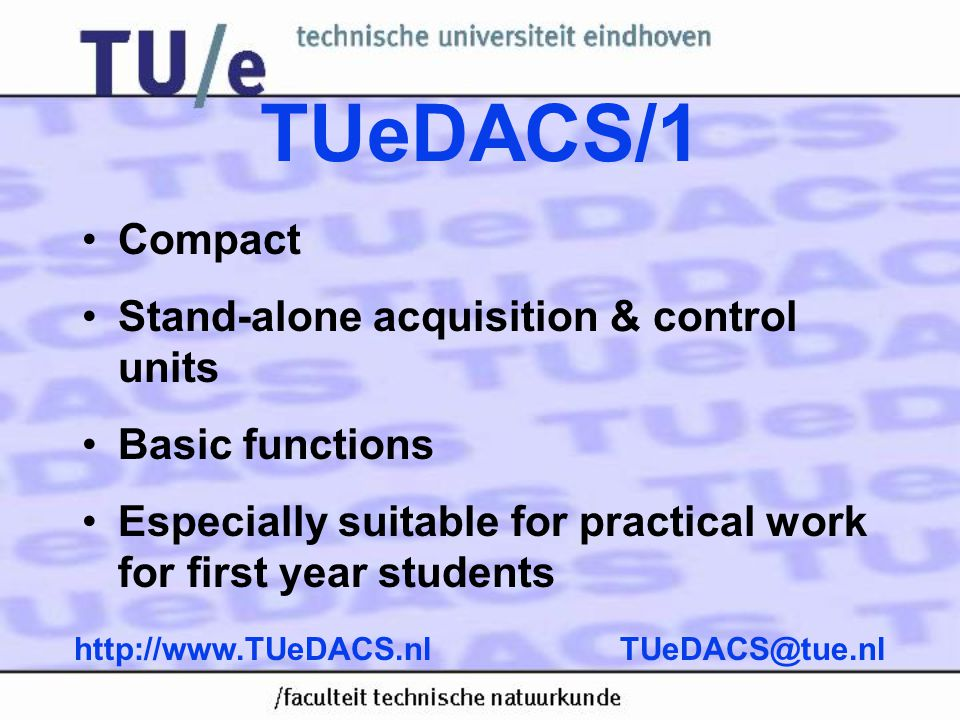 TUeDACS/1 Compact Stand-alone acquisition & control units