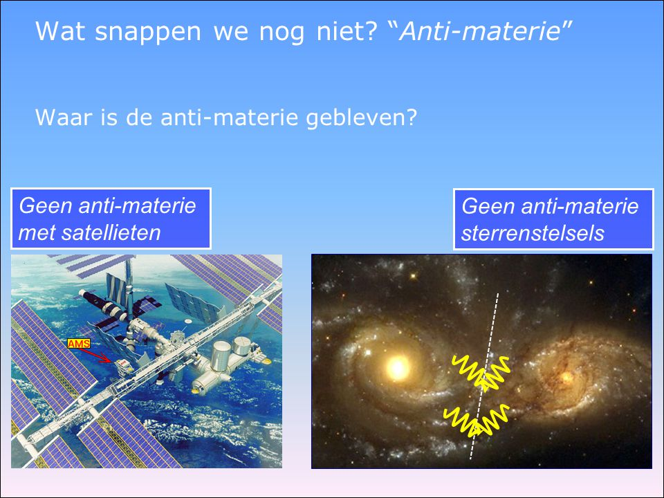 Wat snappen we nog niet Anti-materie
