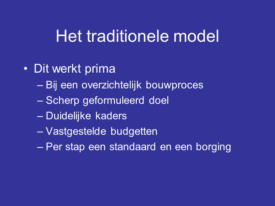 Het traditionele model