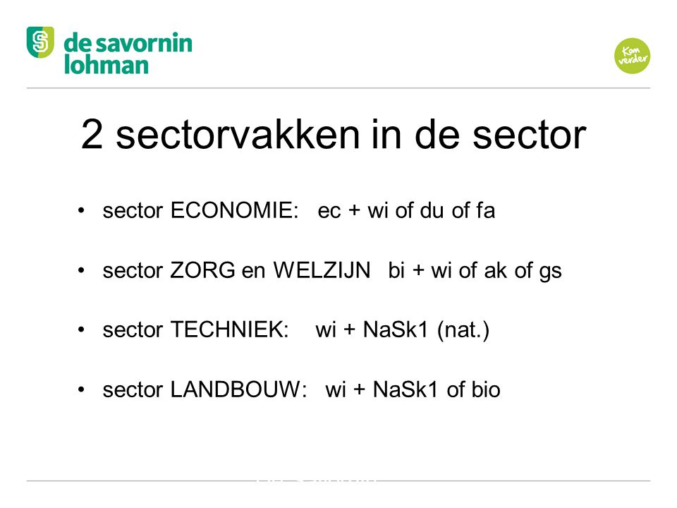 2 sectorvakken in de sector