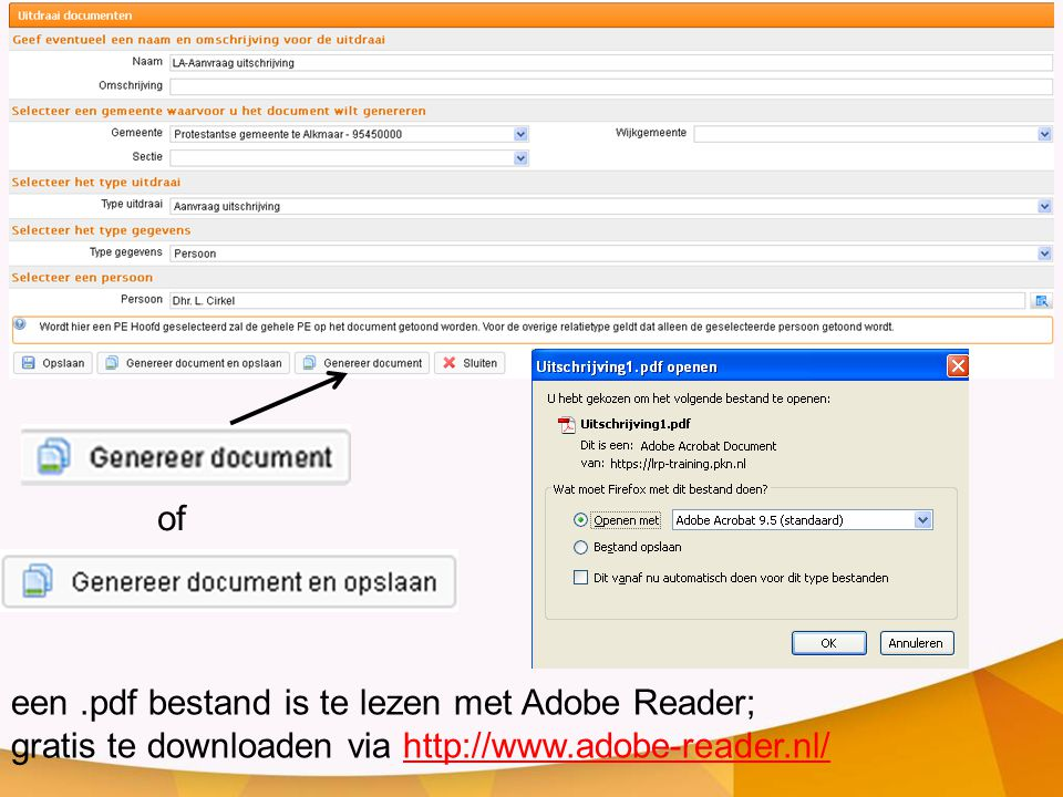 of een .pdf bestand is te lezen met Adobe Reader; gratis te downloaden via http://www.adobe-reader.nl/