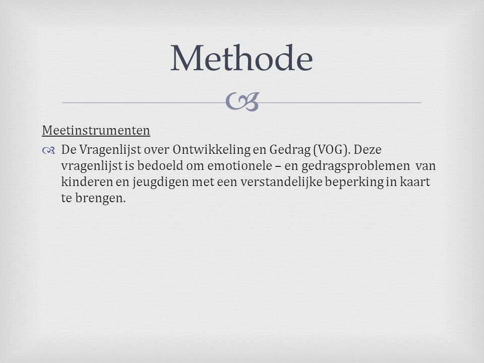 Methode Meetinstrumenten