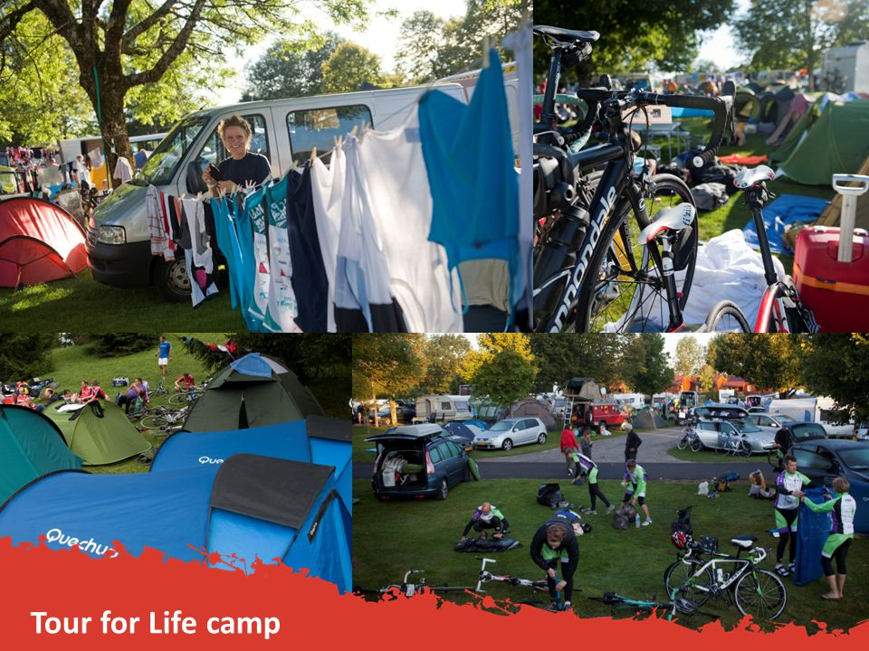 Tour for Life camp