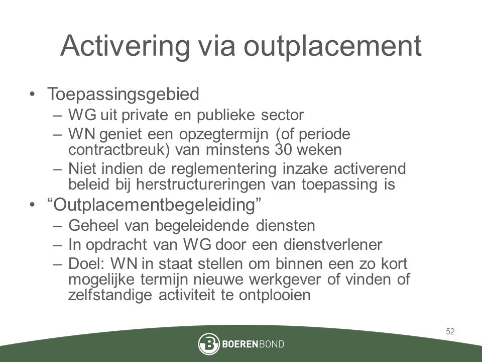 Activering via outplacement