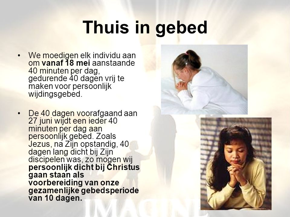 Thuis in gebed