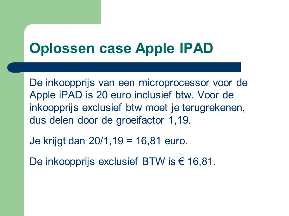 Oplossen case Apple IPAD