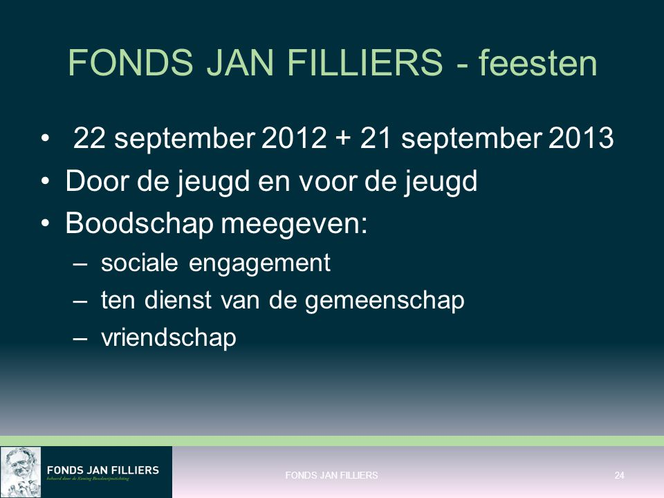 FONDS JAN FILLIERS - feesten