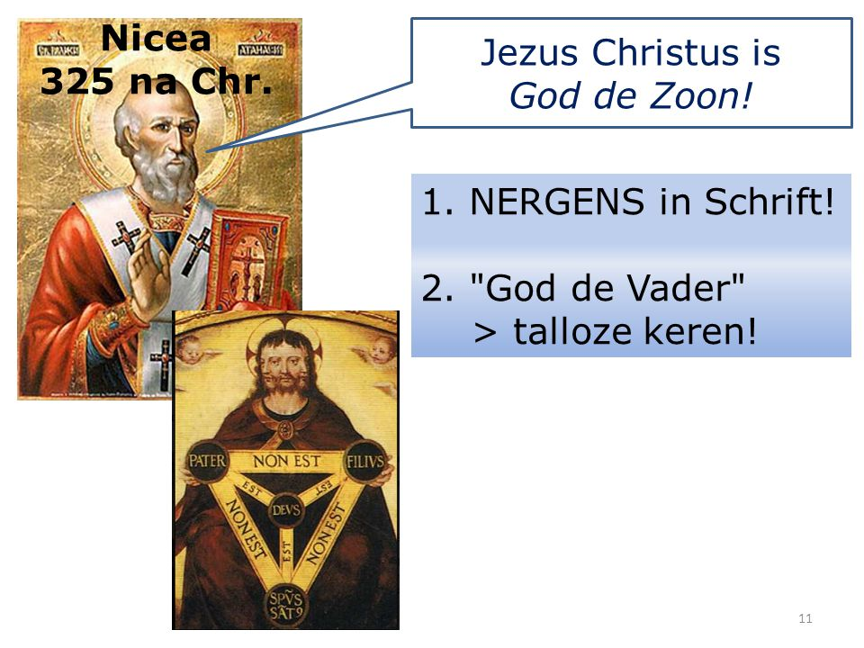 Jezus Christus is God de Zoon!