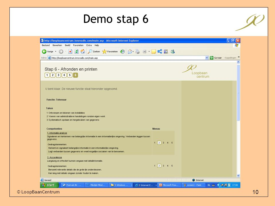 Demo stap 6 © LoopBaanCentrum