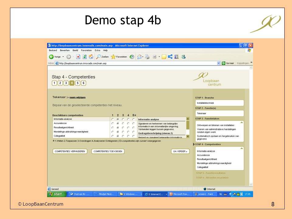 Demo stap 4b © LoopBaanCentrum