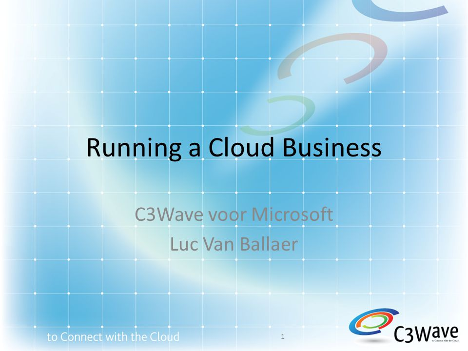 Running a Cloud Business