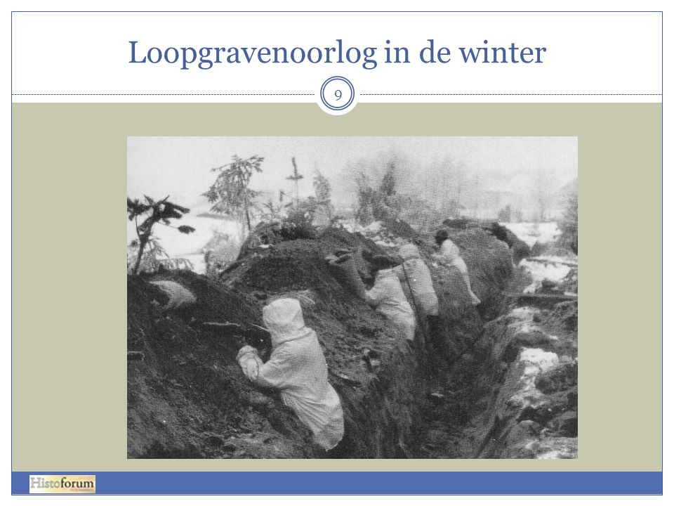 Loopgravenoorlog in de winter