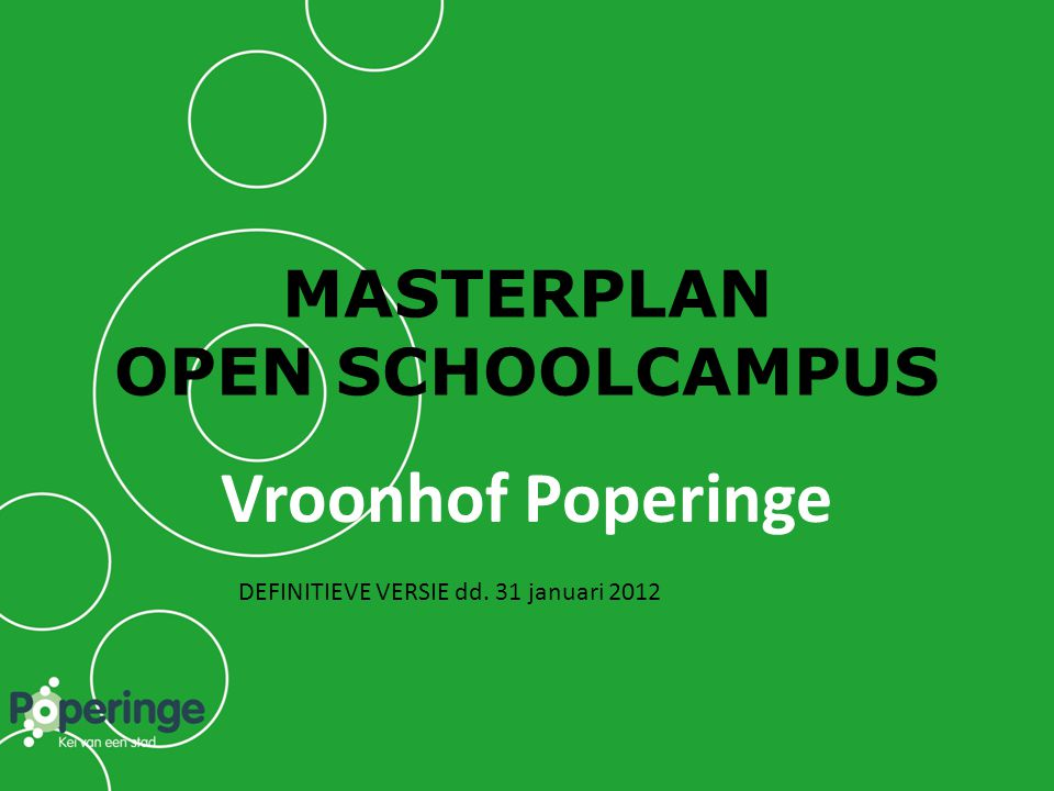 MASTERPLAN OPEN SCHOOLCAMPUS