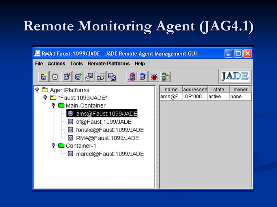Remote Monitoring Agent (JAG4.1)