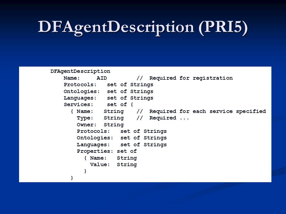 DFAgentDescription (PRI5)