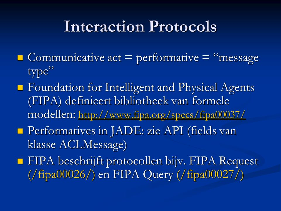 Interaction Protocols
