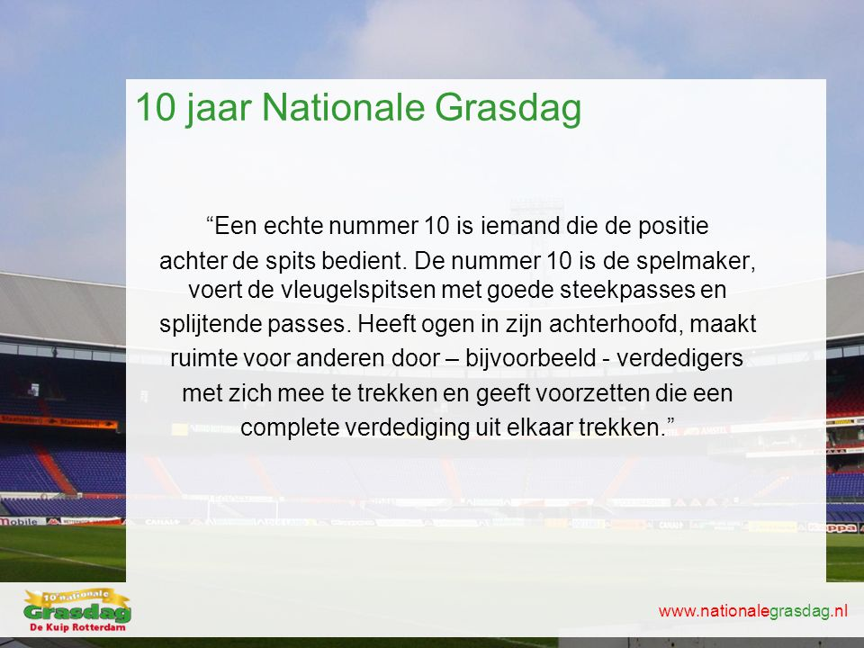 10 jaar Nationale Grasdag
