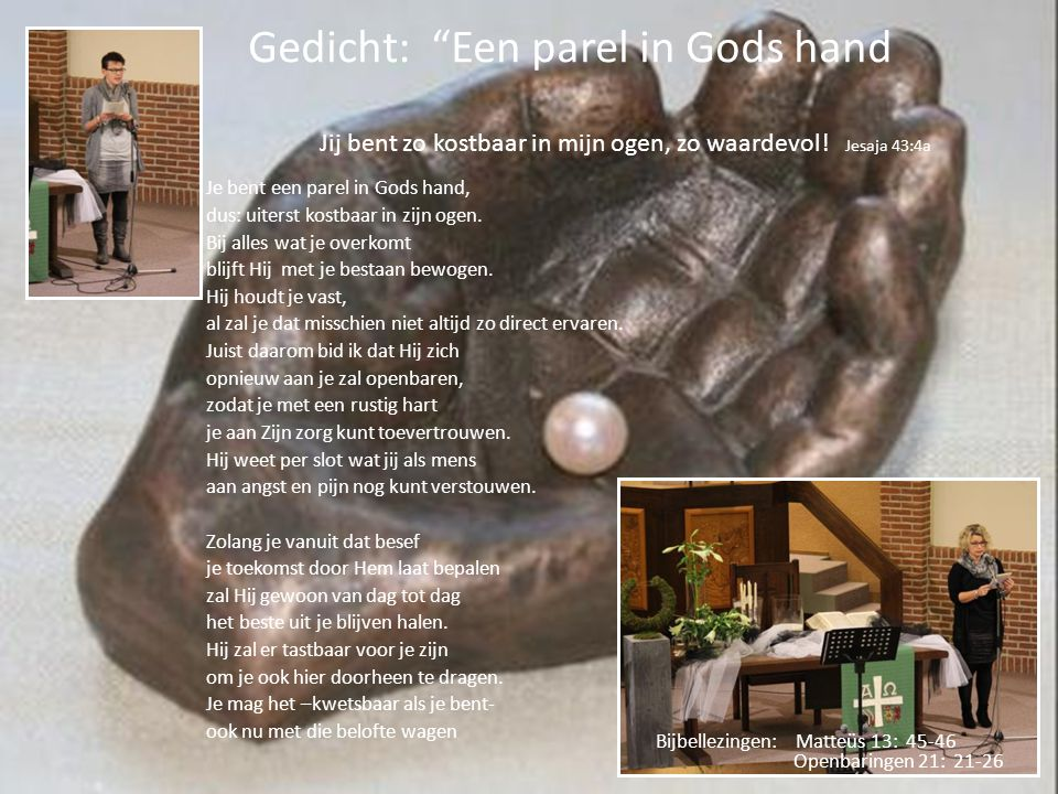 Gedicht: Een parel in Gods hand