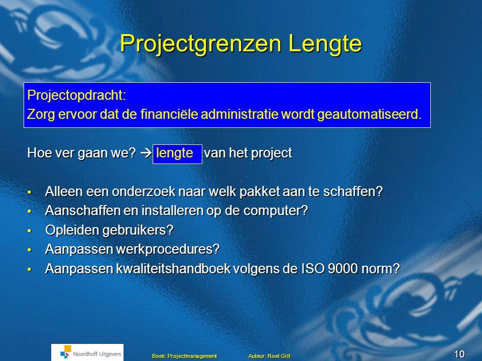projectgrenzen plan van aanpak voorbeeld Projectmanagement Hoofdstuk 5 Maken van een Plan van aanpak Roel  projectgrenzen plan van aanpak voorbeeld