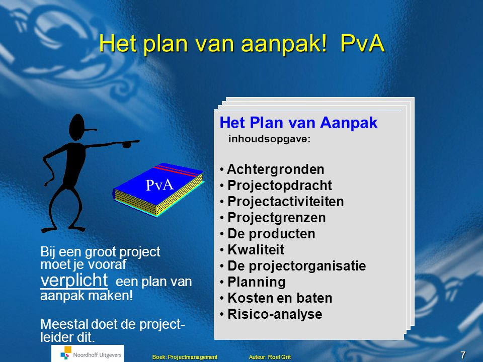 projectactiviteiten plan van aanpak voorbeeld Projectmanagement Hoofdstuk 5 Maken van een Plan van aanpak Roel  projectactiviteiten plan van aanpak voorbeeld
