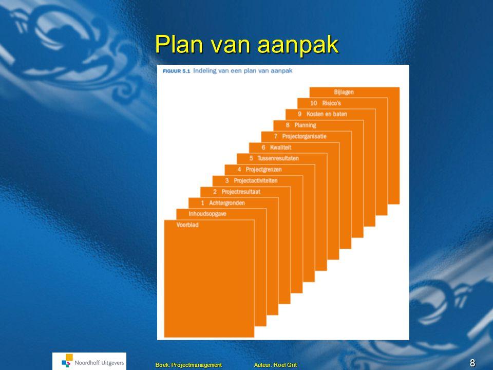 roel grit plan van aanpak Projectmanagement Hoofdstuk 5 Maken van een Plan van aanpak Roel