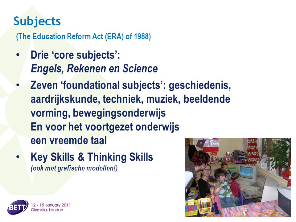 Subjects (The Education Reform Act (ERA) of 1988)