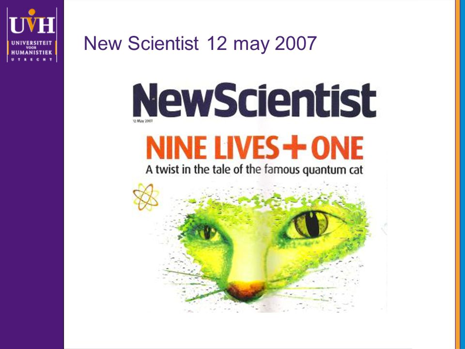 New Scientist 12 may 2007