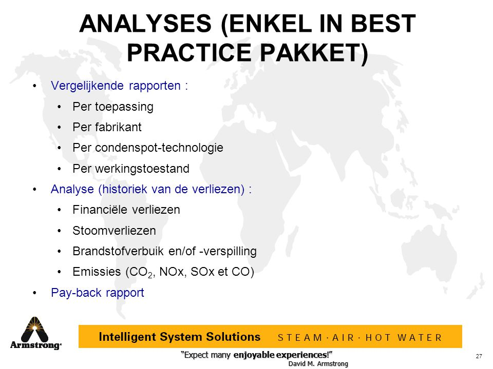 ANALYSES (ENKEL IN BEST PRACTICE PAKKET)