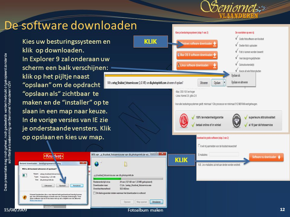 De software downloaden